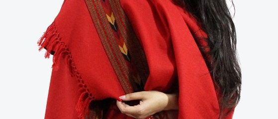Kullu Pure Wool Stole (Blood Red)