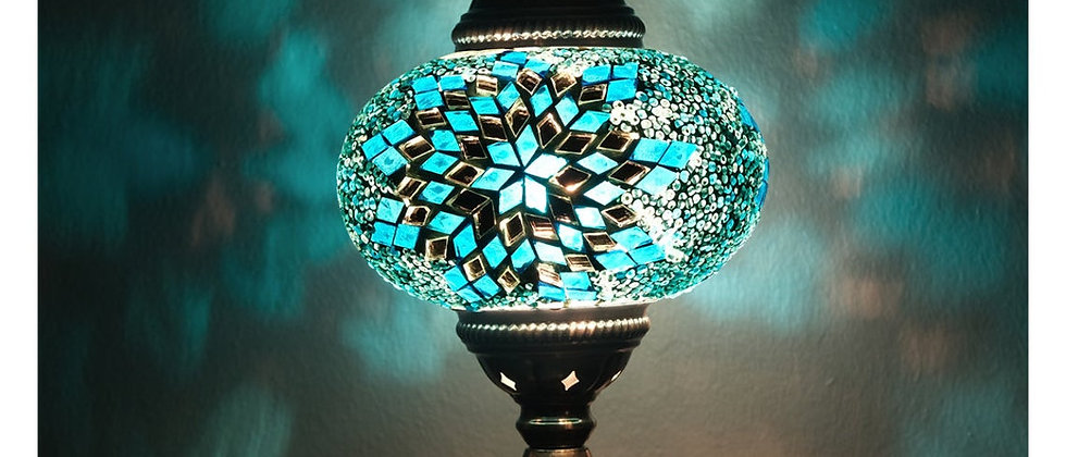 Truly beautiful and artistic display of lights through hand assembled glass mosa