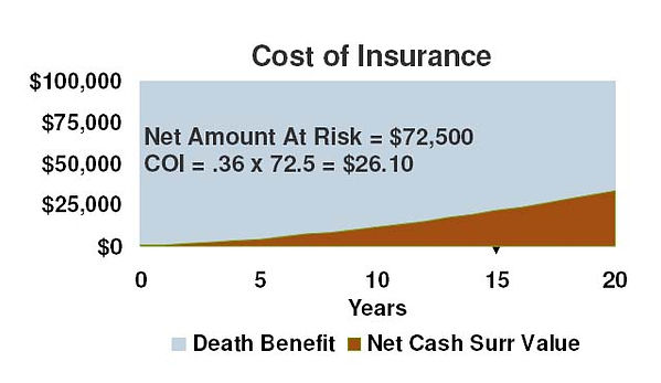 Cost of Insurance, Universal Life