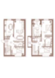 11. Тип 4 комн 2-Х УРОВНЕВАЯ.-152,2 квад