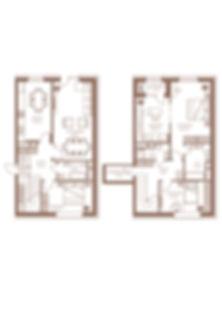 10. Тип 4 комн. 2-Х УРОВНЕВАЯ-150,9 квад