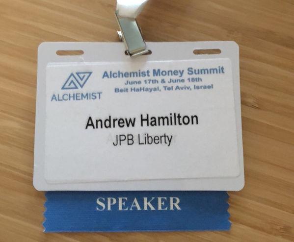 Alchemist Conference Speaker Badge 20 Ju