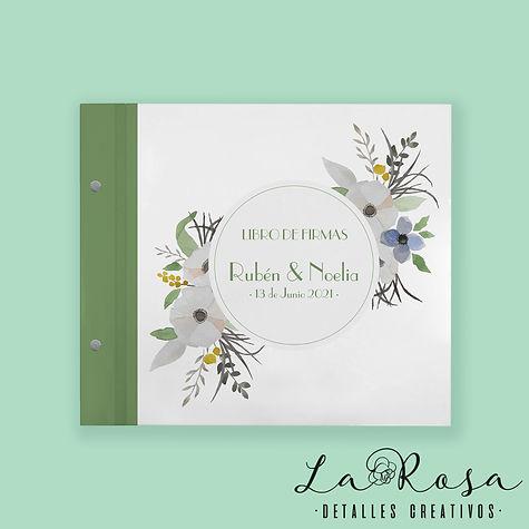 libro de firmas tornillo flores clasico