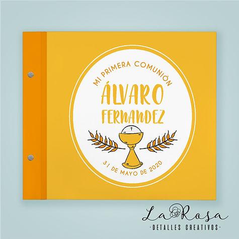libro de firmas comunion caliz amarillo.
