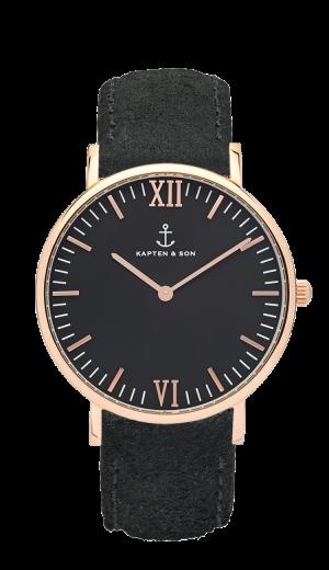 Kaptan Watch All Black Vintage