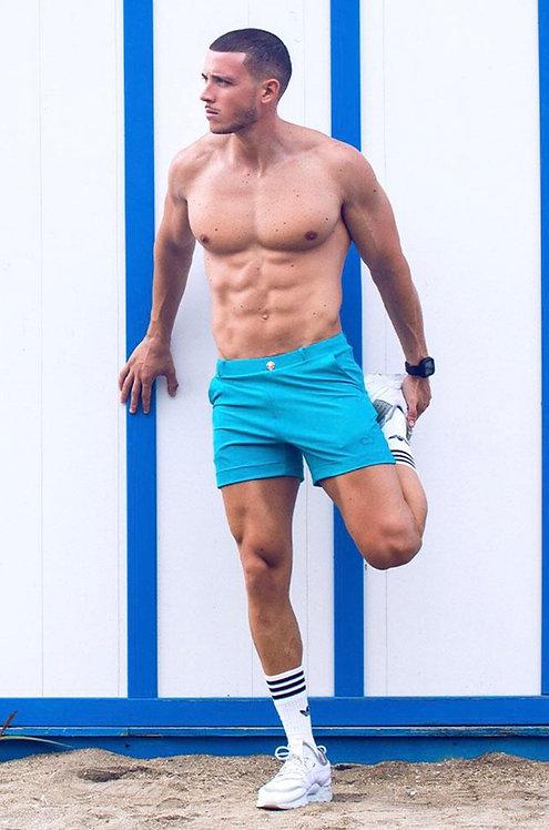 Multi shorts aqua.