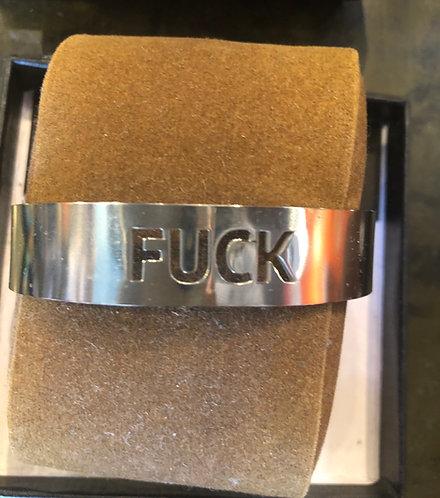 FUCK bracelet/stainless.