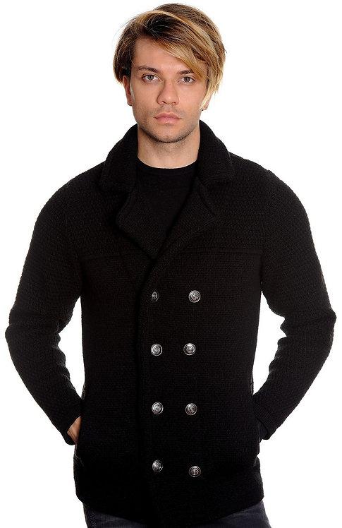 Cardigan blazer, knitwear BLACK.