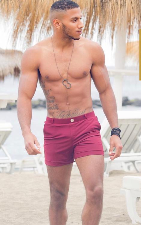 Multi shorts burgundy