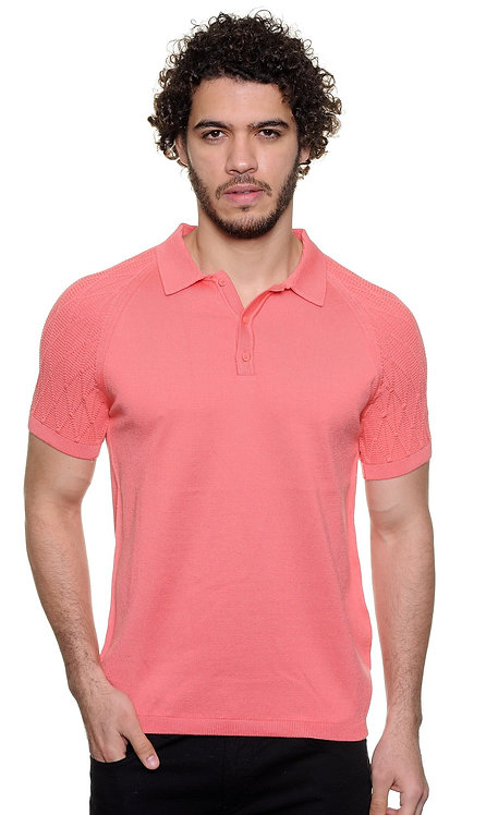 Polo Sweater, coral.