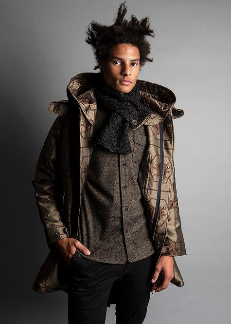 Dot Motiff Jacket with hoodie