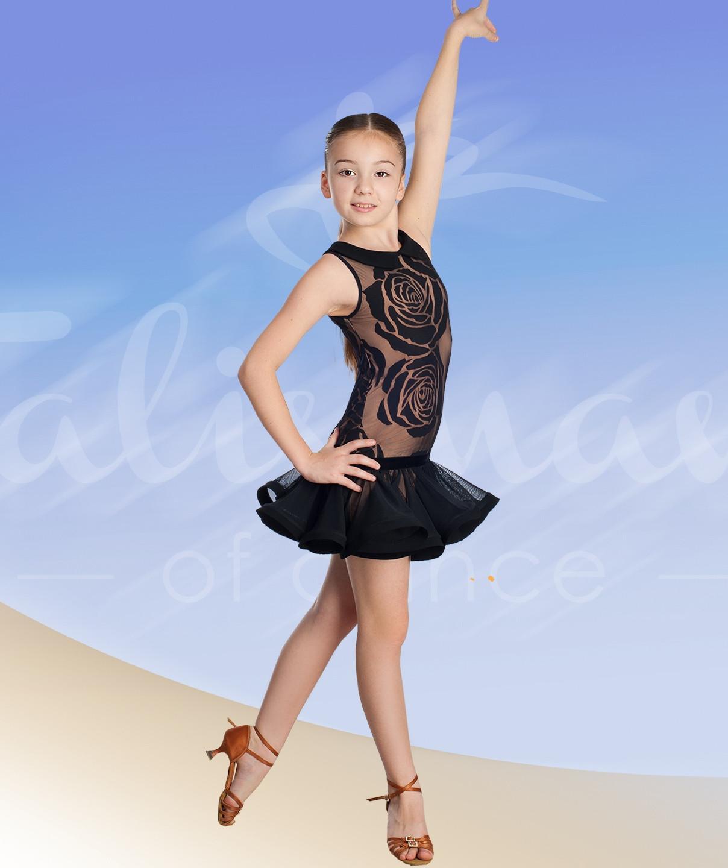 Dětské taneční šaty 645