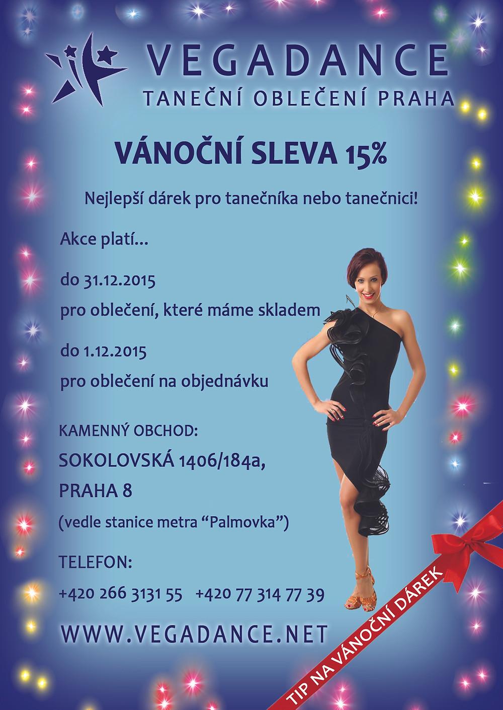 Vánoční sleva Vegadance, tip na dárek pro partnera, tip na dárek pro partnerku, taneční obchod Sokolovská, taneční oblečení Praha, taneční obuv Praha