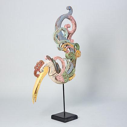 פסל עץ ציפור