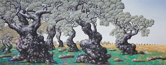 ציור שמן, עצי זית, סמטו