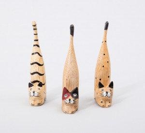 סט 3 חתולים עם זנב ארוך