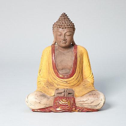 בודהה מעץ עבודת יד