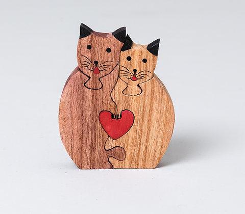 חתולים עם לב