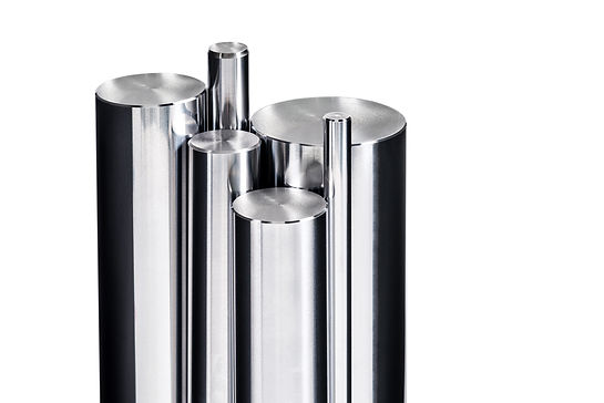 Chrome bars isolated/Vertical chrome ste