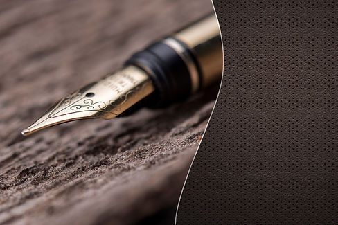 Luxury fountain pen over a wooden surfac