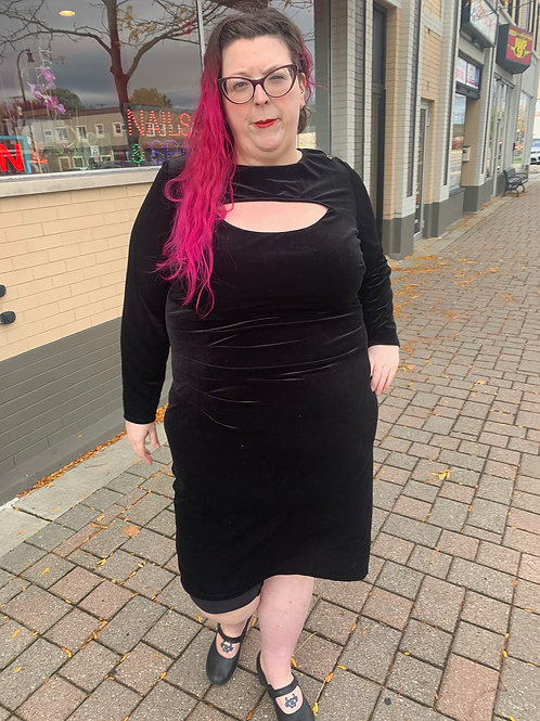 INC Black Velvet Dress