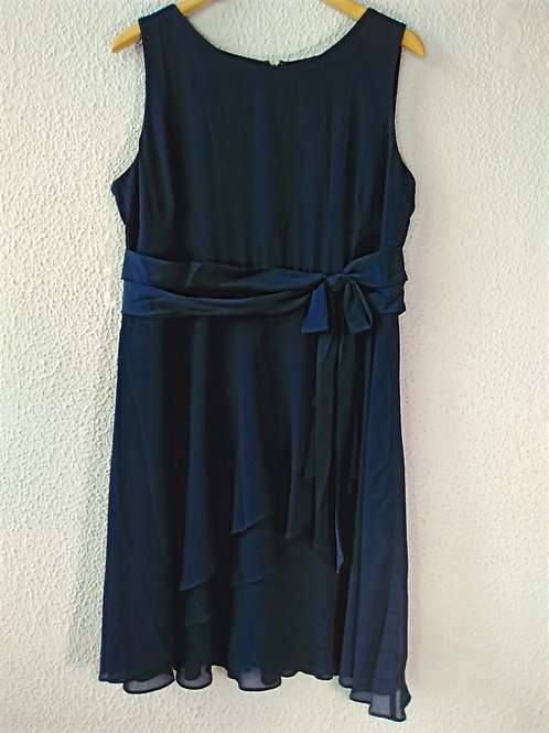 Chaps Navy Ruffle Dress 16