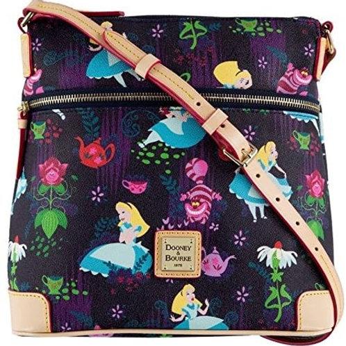 Disney Dooney & Bourke Alice in Wonderland Tea Time Letter Carrier Crossbody Bag