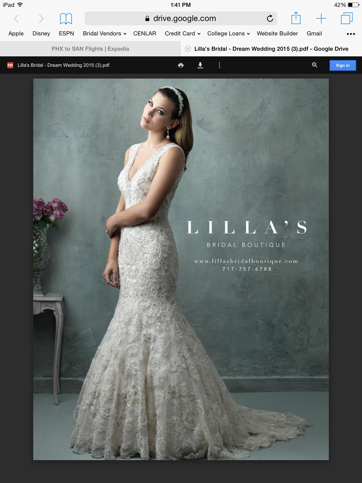 lilla\'s bridal boutique york, pa bridal shop