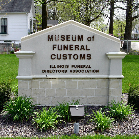 Sign for Museum of Funeral Customs