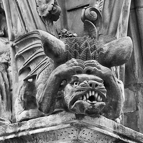 Matthews Gargoyle in Black & White