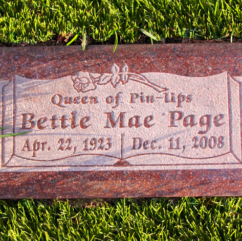Bettie Page Grave