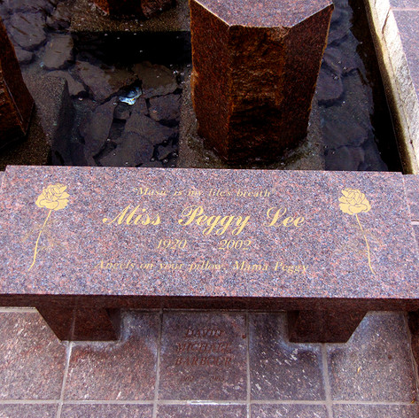 Miss Peggy Lee Grave