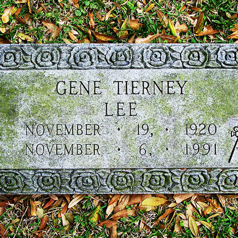 Gene Tierney Gravestone