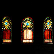 Stained Glass Inside Mausoleum