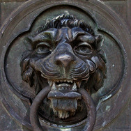 Lion Door Knocker Oakland Cemetery Atlan