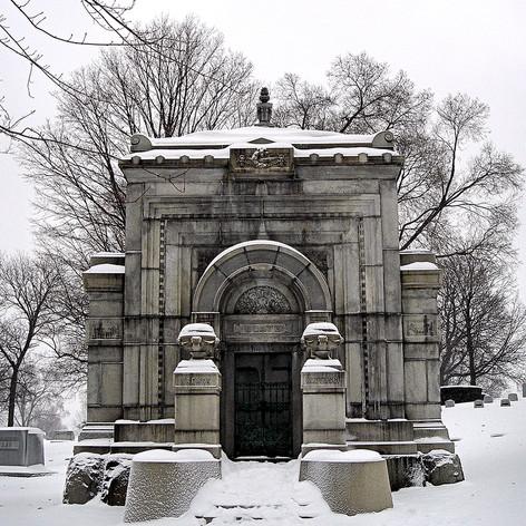 Blatz Mausoleum in Winter