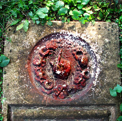 Red Handed Headstone