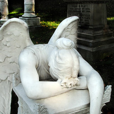Weeping Angel Forest Home Cemetery Brook