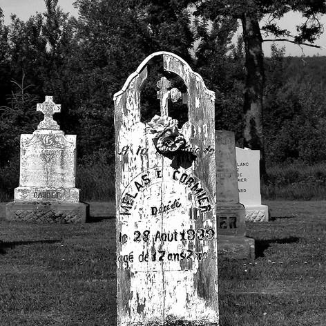 Melas Cormier Wooden Headstone