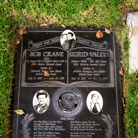Bob Crane & Sigrid Valdis Grave