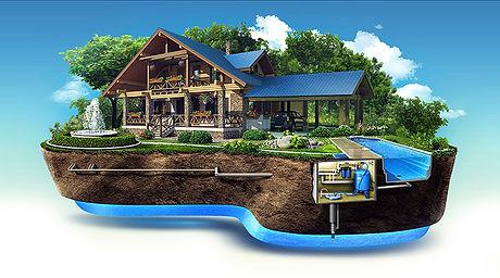 дом картинка водоснабжение и водоотведен