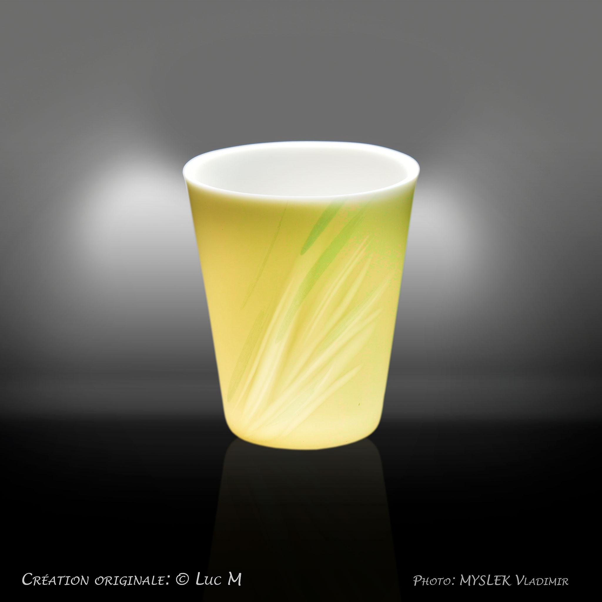 Godet porcelaine translucide - Luc M 3399j