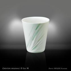 Godet porcelaine translucide - Luc M 3399b