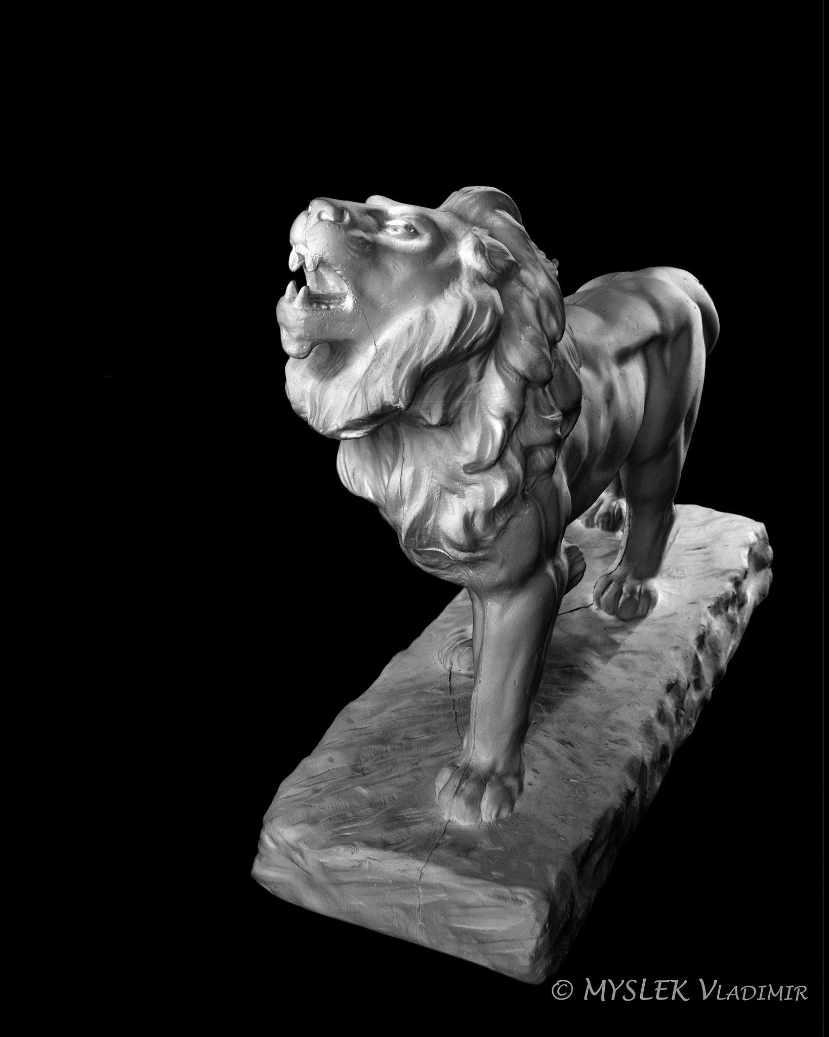 Lion rugissant de Antoine-Louis BARYE - 3652ALB