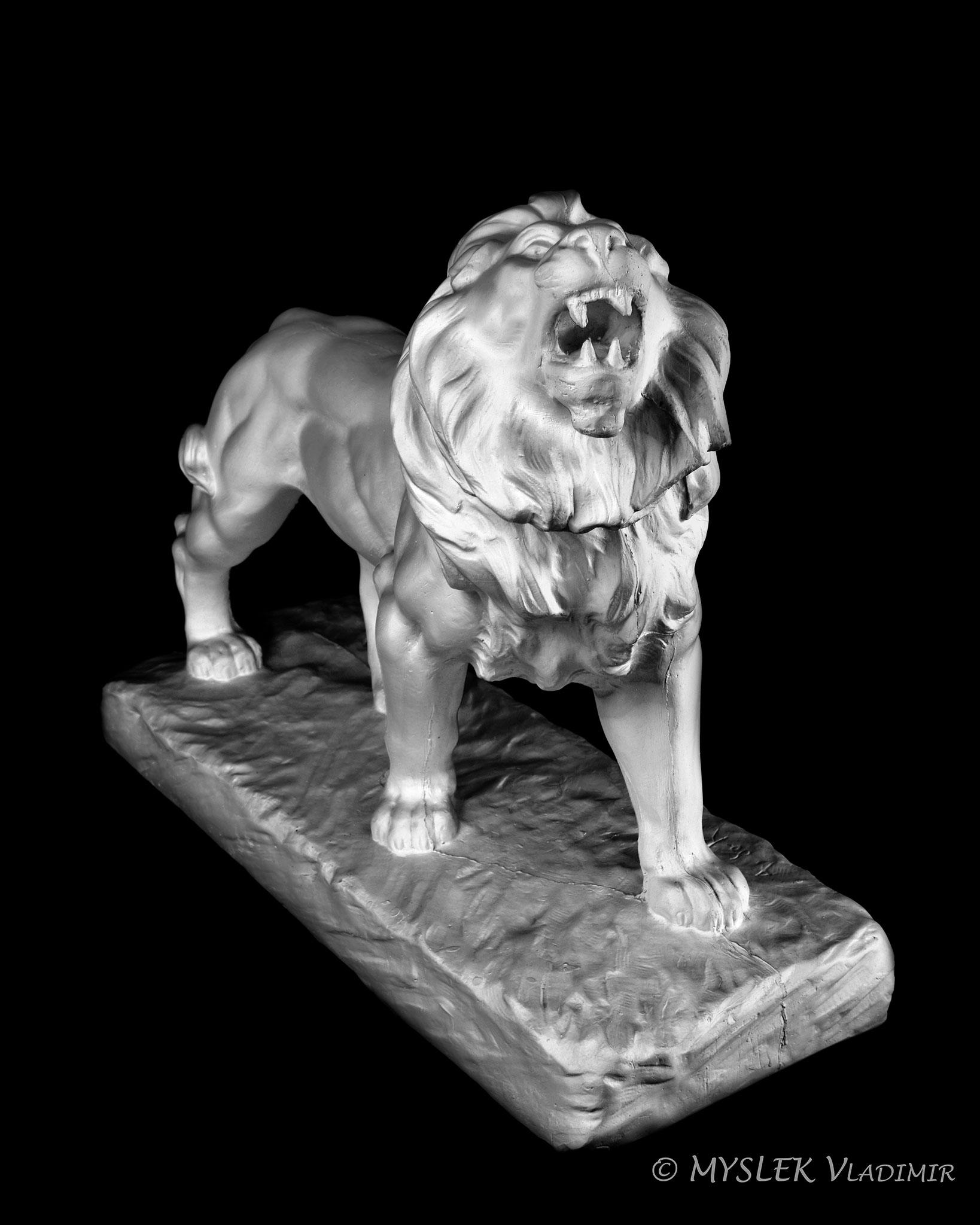 Lion rugissant de Antoine-Louis BARYE - 3651ALB