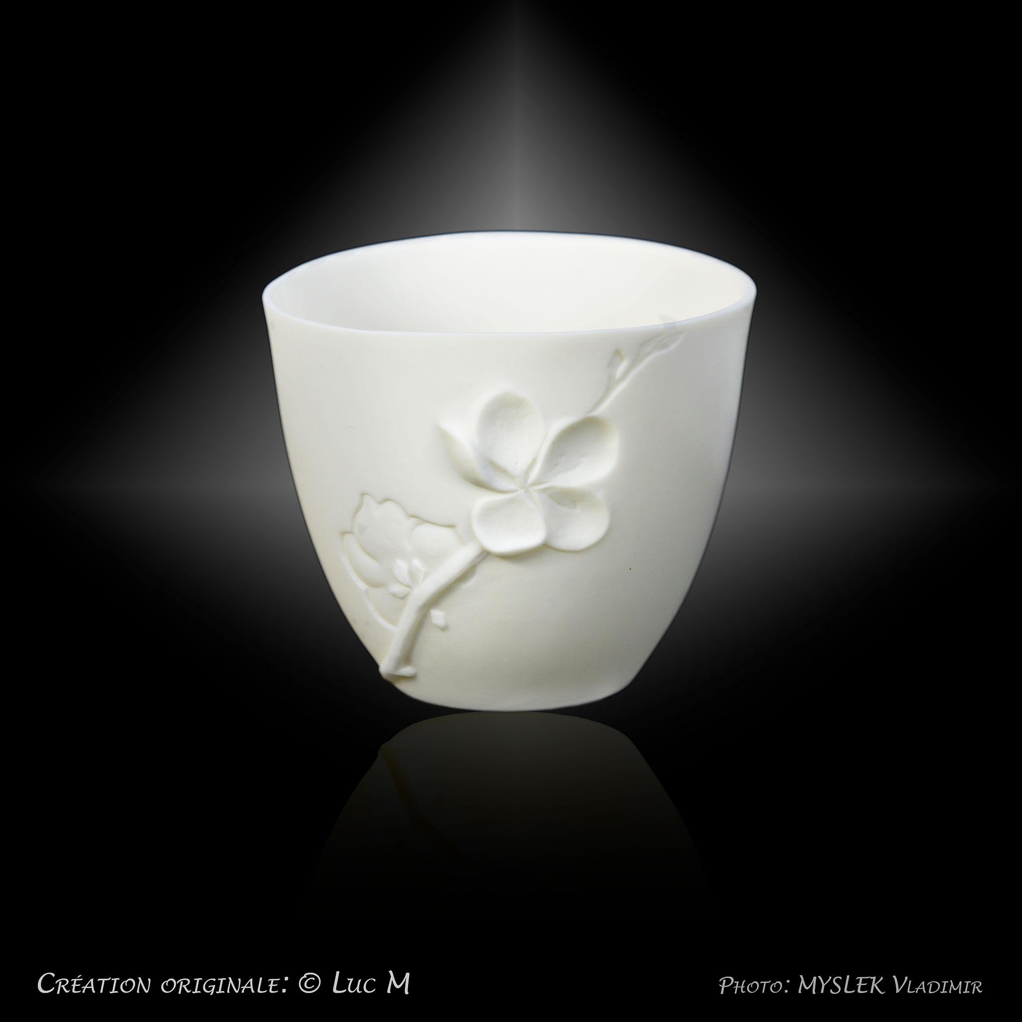 Godet porcelaine translucide - Luc M 3373b