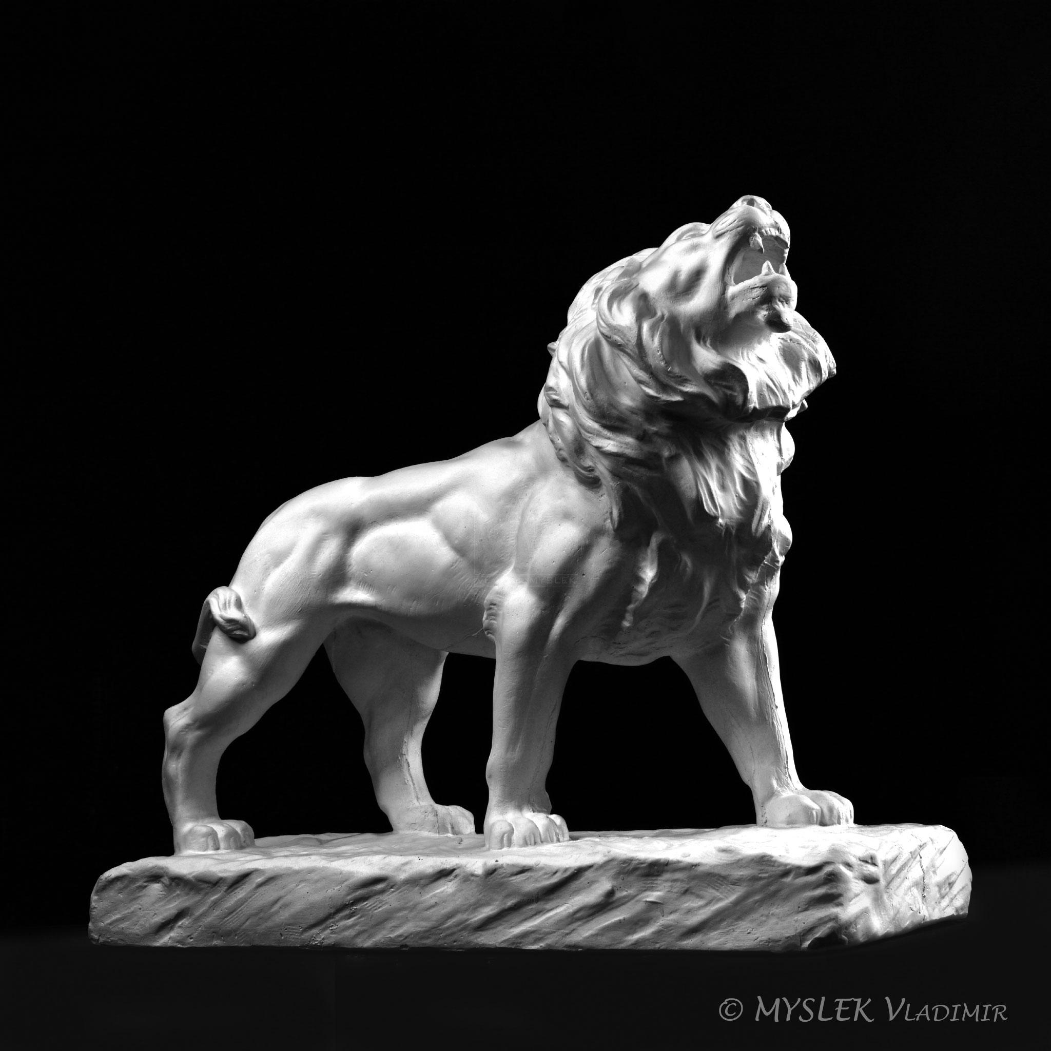 Lion rugissant de Antoine-Louis BARYE - 3591ALB