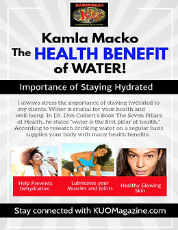 The Benefits of Drinking water by Kamla.