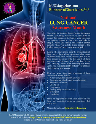 National Lung Cancer Awareness Month - N
