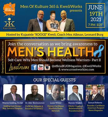 June 19th 2021 - Glow Show on Mens Healt